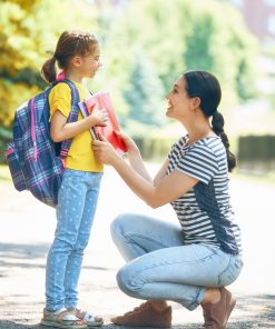mum_ dropping child for first day of school